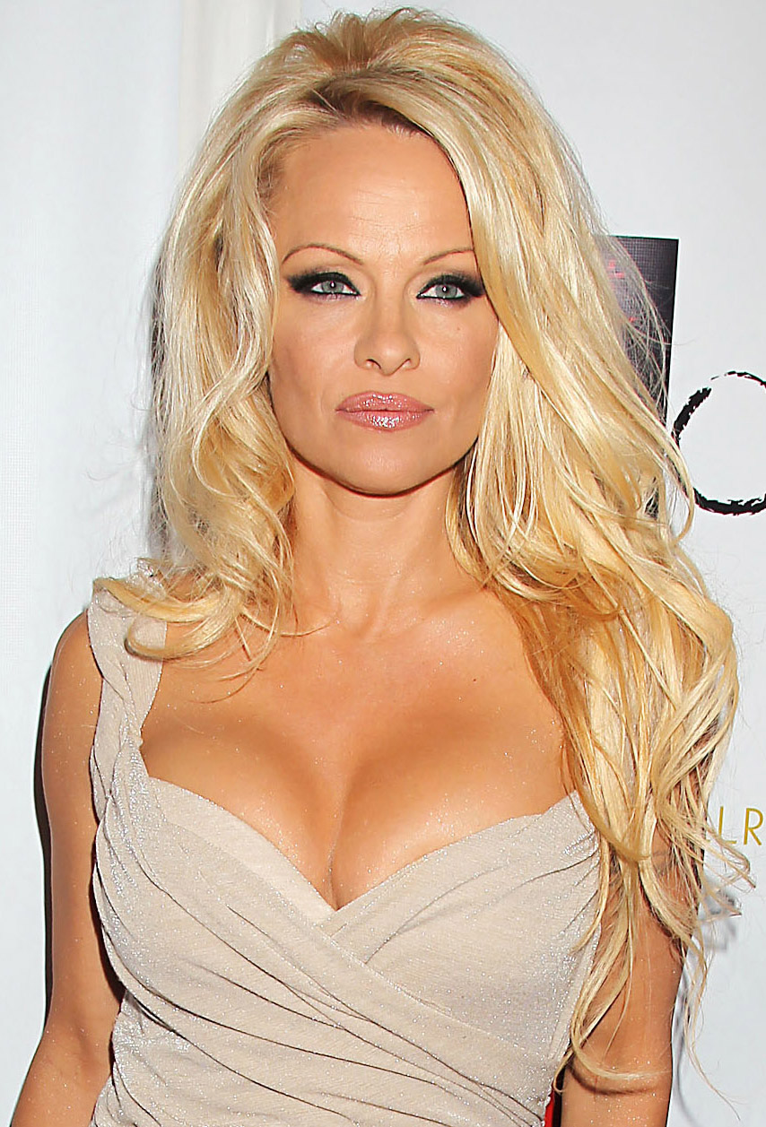 Pamela Anderson shows cleavage as she is named Imperial Countess